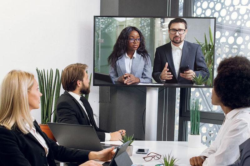 Video Audio Konferenz Büro